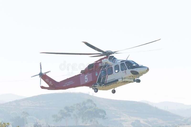 Van de Brandagustawestland AW139 van Los Angeles de Luchtbush125 helikopter stock afbeelding