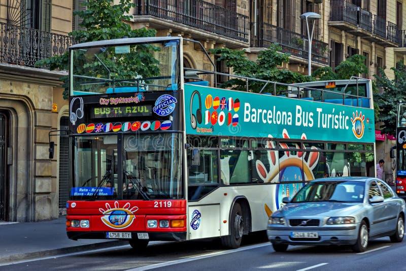 Van de de Busstad van Barcelona Rode de Reisaantrekkelijkheden royalty-vrije stock afbeelding