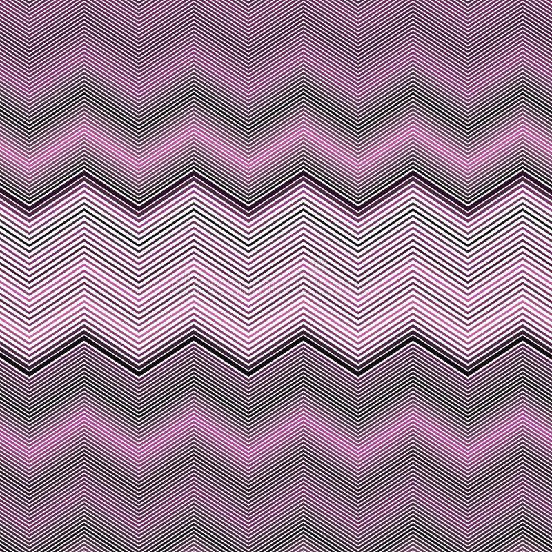 Van de de Chevrongradiënt van Zig Zag Roze van de het Spectrum Kleurrijk Streep Roze Patroon Als achtergrond stock illustratie