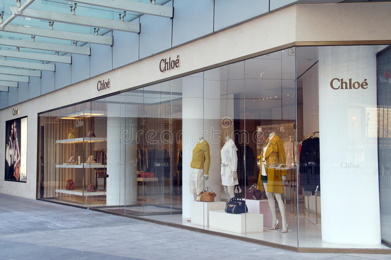 Van de Chloe (Chloé) manier de winkel stock fotografie