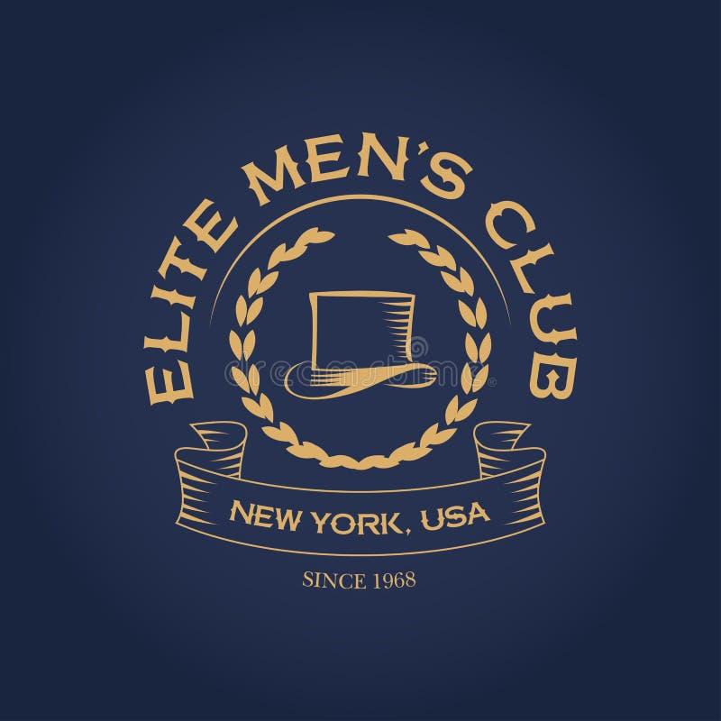 Van de de clubkleding van elitemensen ` s ontwerp van de de t-shirtmanier het uitstekende, logotype malplaatje, het grafische, ty stock illustratie