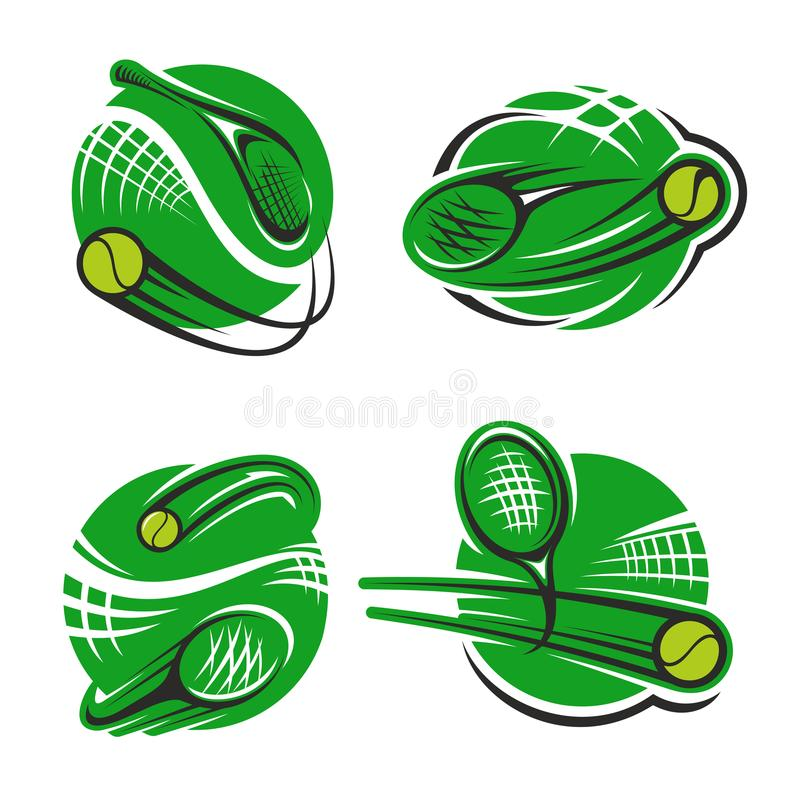 Download Van De De Clubracket En Bal Van De Tennissport Vectorpictogrammen Vector Illustratie - Illustratie bestaande uit cirkel, pictogram: 107707666