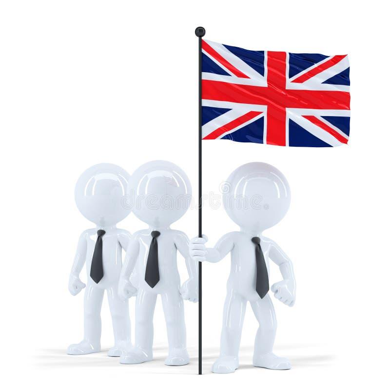 Van de commerciële de vlag teamholding van het UK Geïsoleerde Bevat het knippen weg stock illustratie