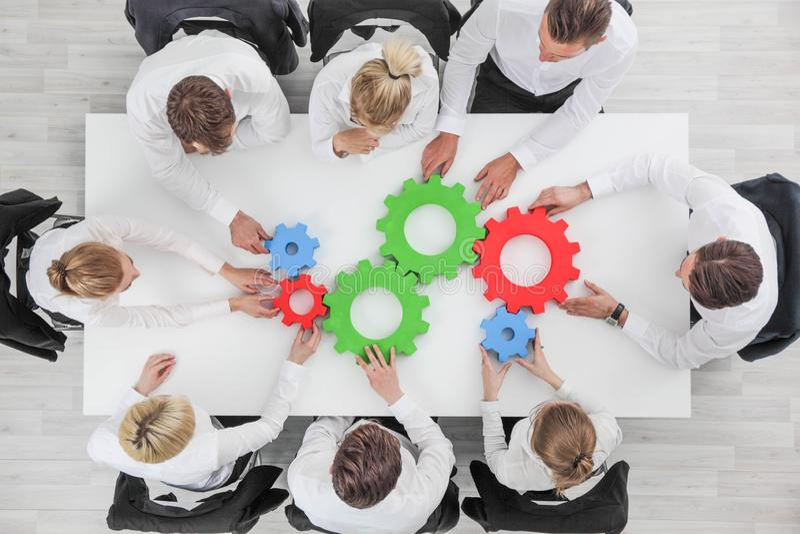 Van de commerciële het concept teamsamenwerking royalty-vrije stock foto