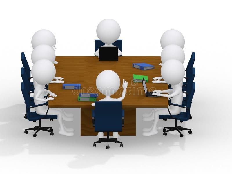 Van de commerciële het portret groepsvergadering vector illustratie