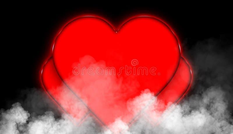 Van de dag de kleurrijke harten van de gelukkige valentijnskaart abstracte achtergrond Textuur van de rook de nevelige mist op ge vector illustratie