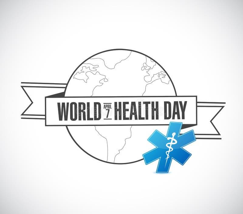 van de de dagbol van de wereldgezondheid de Illustrator van het het lintteken Grafisch ontwerp vector illustratie