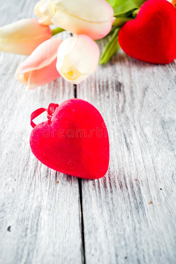 Van de daggroeten van Valentine de prentbriefkaarachtergrond stock afbeeldingen