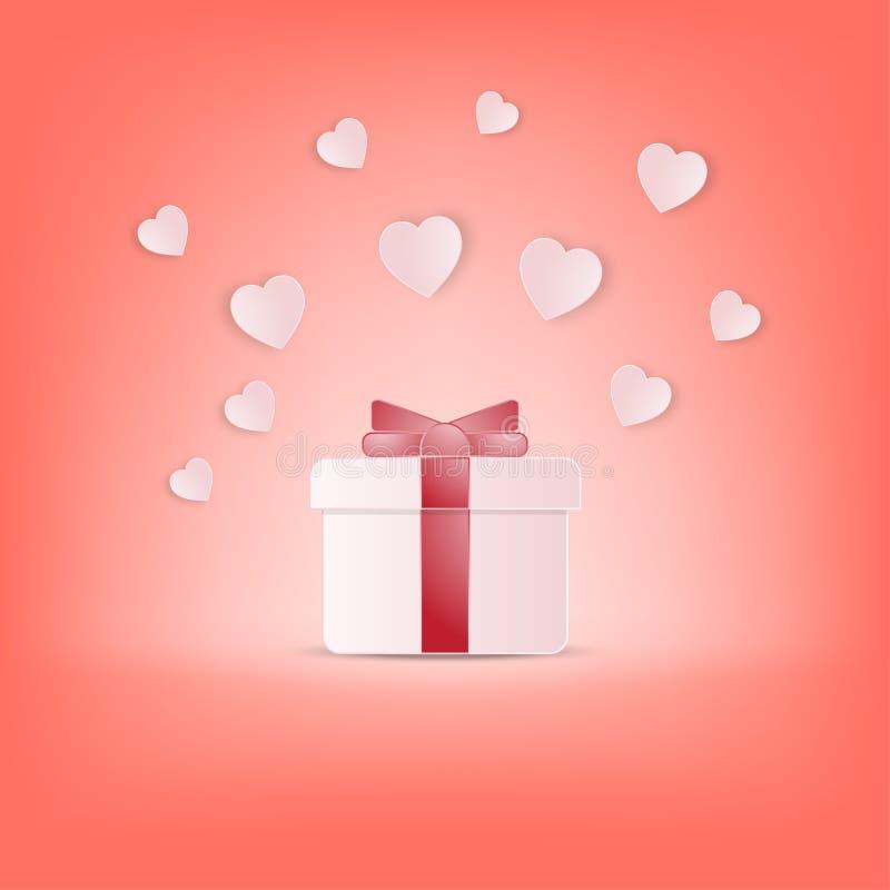 Van de de dagprentbriefkaar van de creatieve gelukkige valentijnskaart de vectorillustratie royalty-vrije illustratie