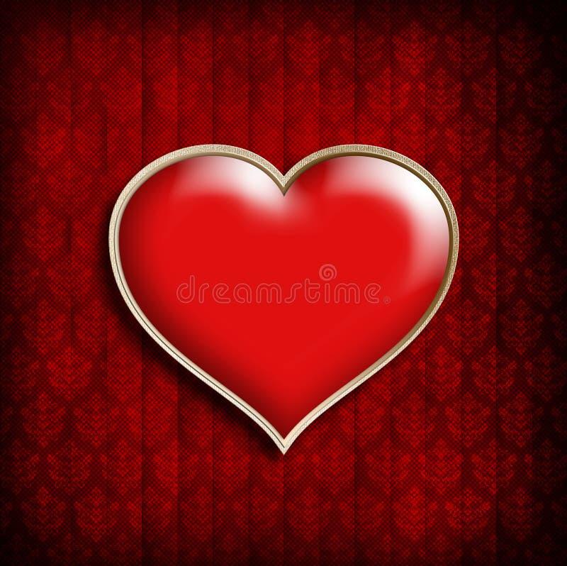 Van de de Achtergrond dagkaart van Valentine malplaatje royalty-vrije illustratie