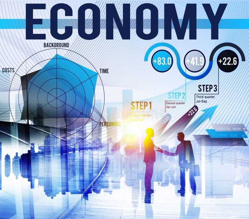 Van de de Boekhoudingsbegroting van economiefinanciën de Investeringsconcept royalty-vrije stock afbeeldingen