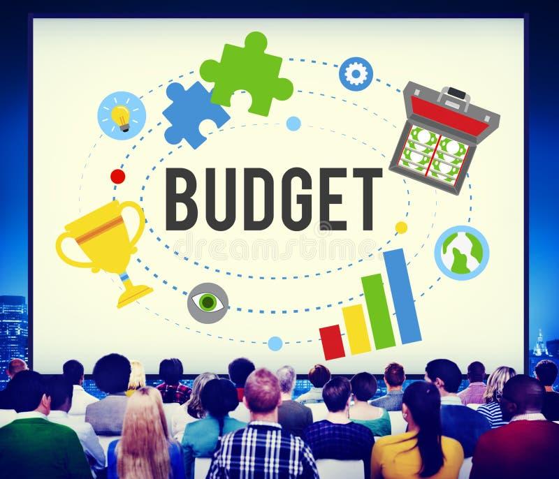 Van de de Boekhoudingsinvestering van het begrotingsbankwezen de Boekhoudingsconcept stock fotografie