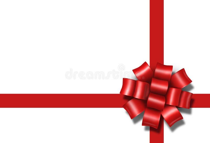 Van de de booggift van het lint verpakt de huidige rode doos a
