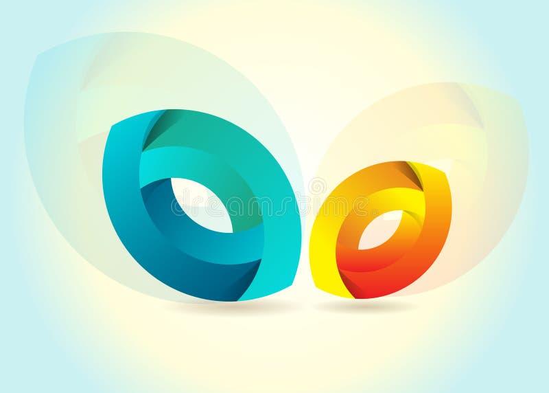 Van de de cirkelaarde van de bol van de de planeetreis het WebInternet de slagland van de busineskleur vector illustratie