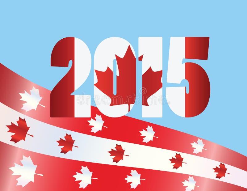 Van de de Dag 2015 Vlag van Canada de Vectorillustratie vector illustratie