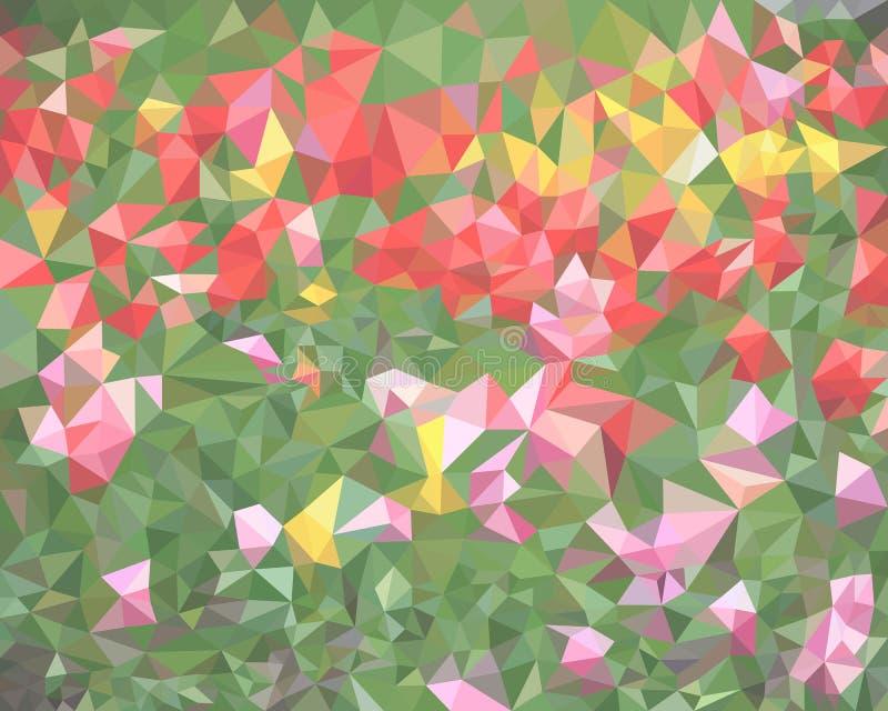 Van de de dekkingstegel van de veelhoek het geometrische grafische bloem bloemen van het van het de achtergrond stoffenpatroon Ab stock illustratie