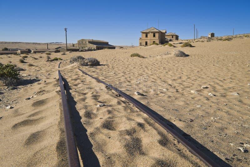 Van de de diamantmijnbouw van het spook de stad Kolmanskop royalty-vrije stock foto