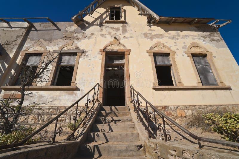 Van de de diamantmijnbouw van het spook de stad Kolmanskop royalty-vrije stock afbeeldingen