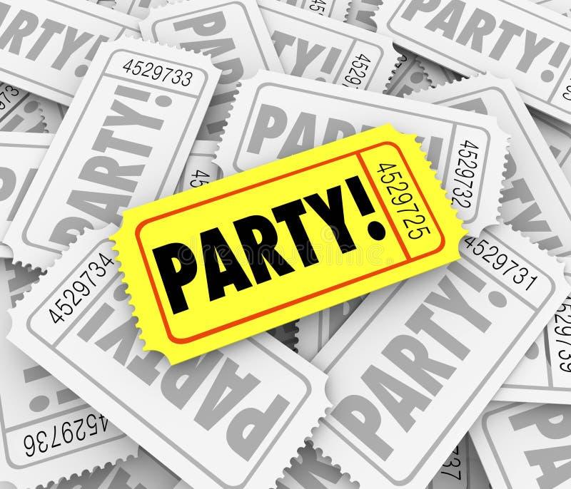 Van de de Gebeurtenisviering van partijkaartjes Speciale de Verjaardagsverjaardag Inv vector illustratie