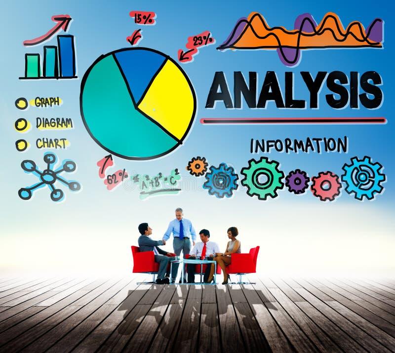 Van de de grafiekgrafiek van analyseanalytics het Concept van de de Gegevensinformatie royalty-vrije stock foto's