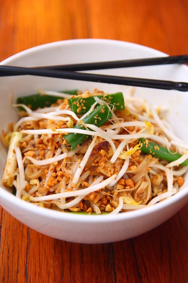 Van de de handtekeningsschotel van het stootkussen het Thaise, Thaise Thaise voedsel. royalty-vrije stock foto