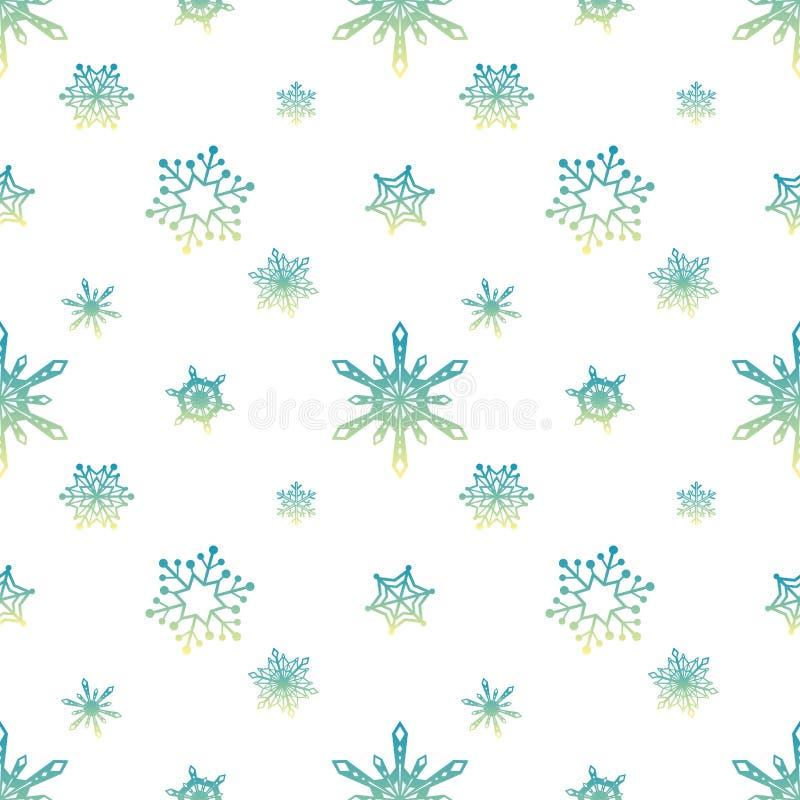 Van de de hemelkleur van het sneeuwvlokpatroon de tropische witte achtergrond royalty-vrije illustratie