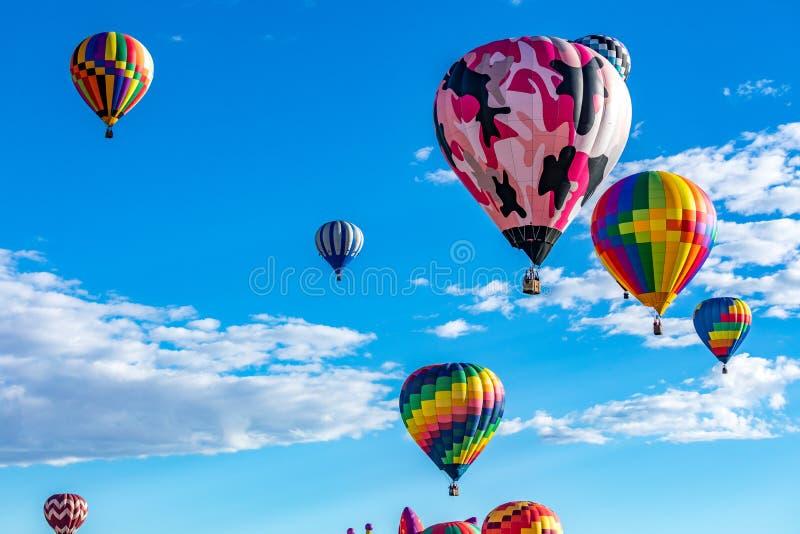 Van de de Hete Luchtballon van Albuquerque de Fiesta 2016 stock afbeelding