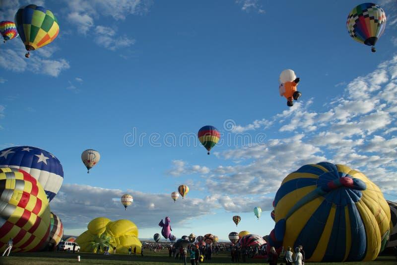 Van de de Hete Luchtballon van Albuquerque de Fiesta 2016 stock foto
