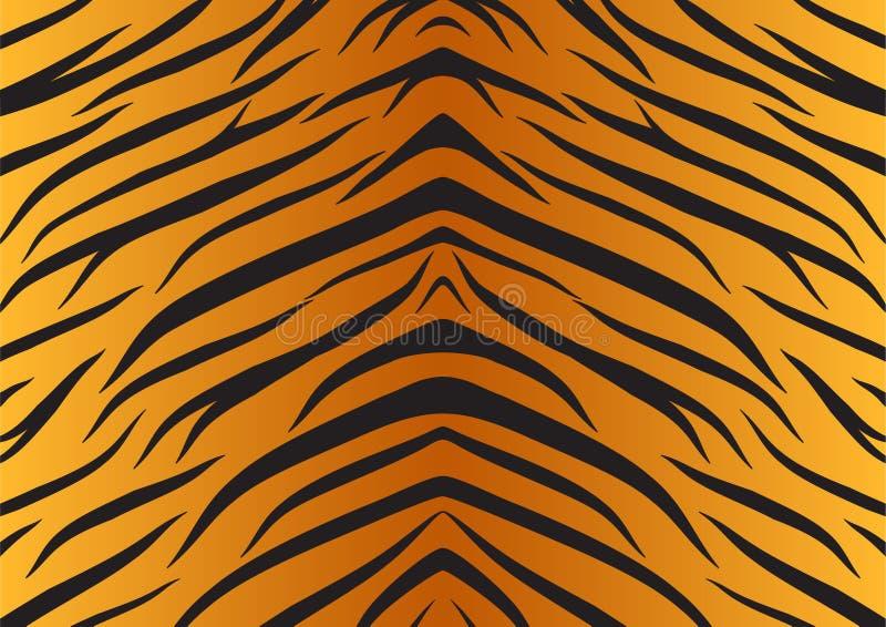 Van de de huidtijger van de textuur de dierenbont stock illustratie