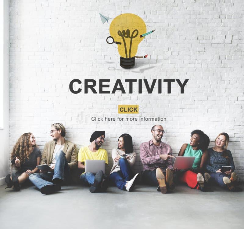 Van de de Ideeënverbeelding van de creativiteitcapaciteit de Innovatieconcept royalty-vrije stock foto's