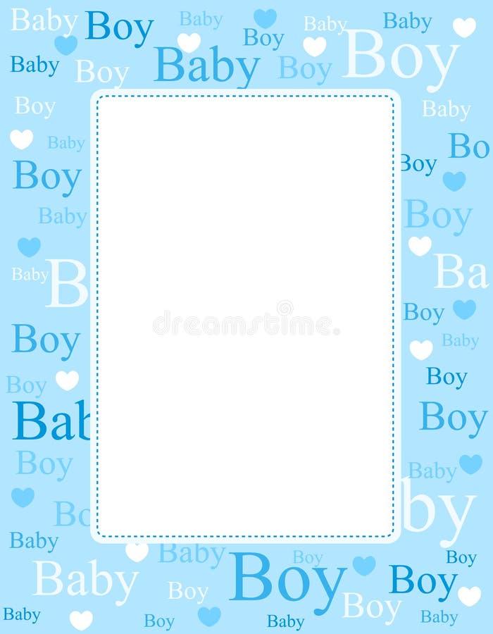 Van de de jongensaankomst van de baby de kaart/de achtergrond vector illustratie