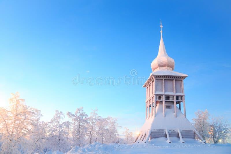 De kathedraalmonument Lapland Zweden van Kiruna royalty-vrije stock afbeeldingen