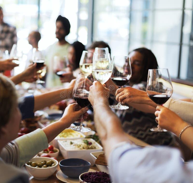 Van de de Keuken Culinair Gastronomisch Partij van de voedselcatering de Toejuichingenconcept stock foto's