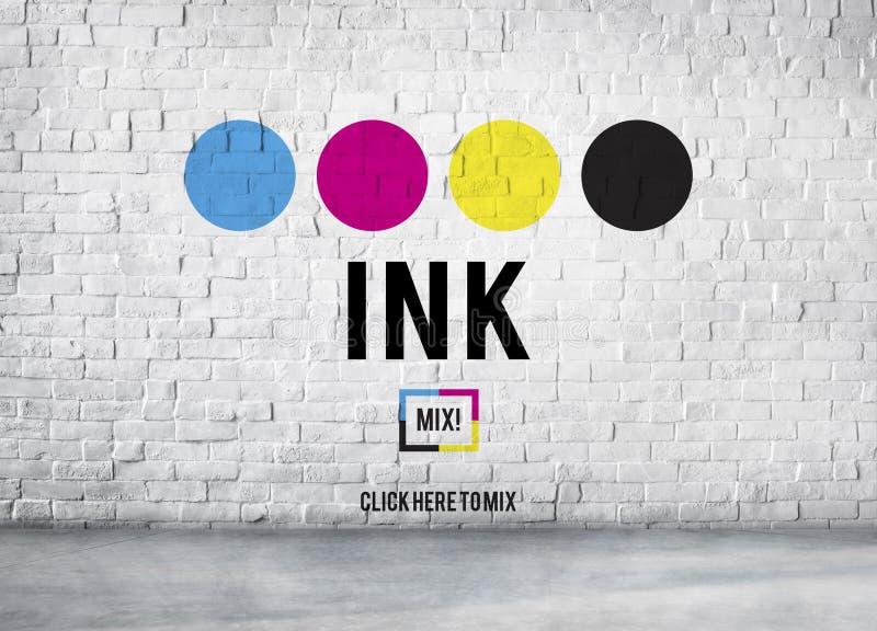 Van de de Kleurenverf van het inkt het Abstracte Arty Patroon Vloeibare Concept royalty-vrije illustratie