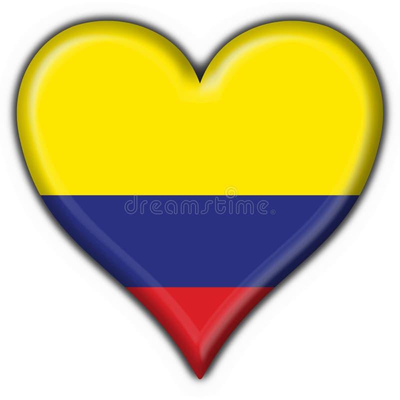 Van de de knoopvlag van Colombia het hartvorm royalty-vrije illustratie