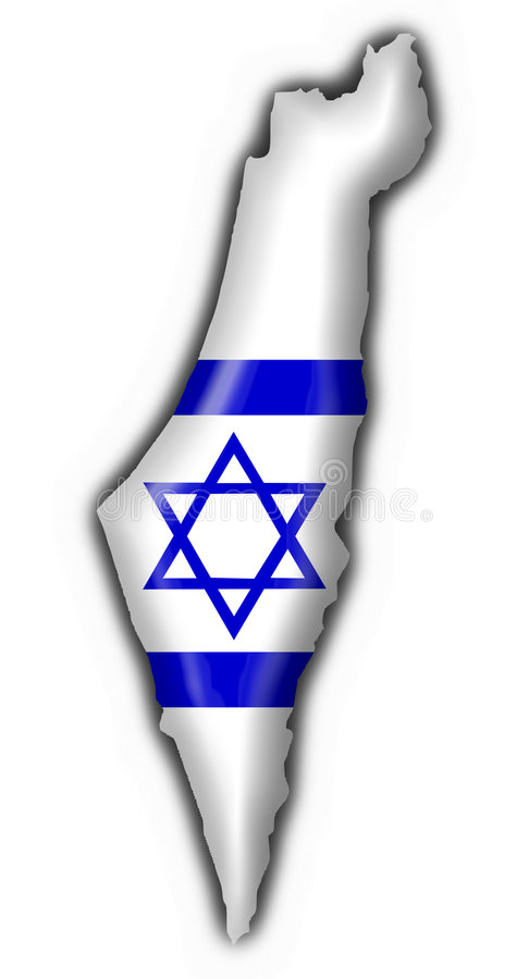 Van de de knoopvlag van Israël de kaartvorm
