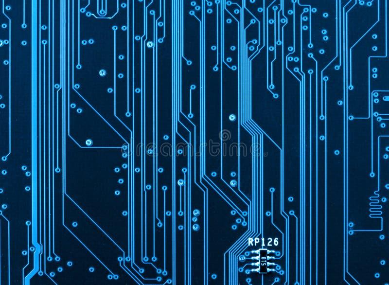 De close-up van de de kringsraad van de computer stock foto