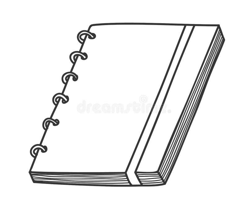 Van de de kunsthand van de notitieboekjelijn vector de kunstillustratie darwn vector illustratie