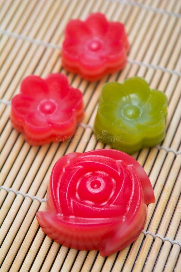 Van de de laag het zoete cake van Kanomchan Thaise dessert royalty-vrije stock fotografie