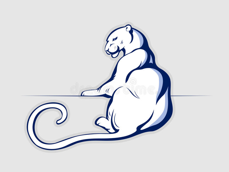 Van de de leeuwpanter van de luipaard de jaguarkat stock illustratie