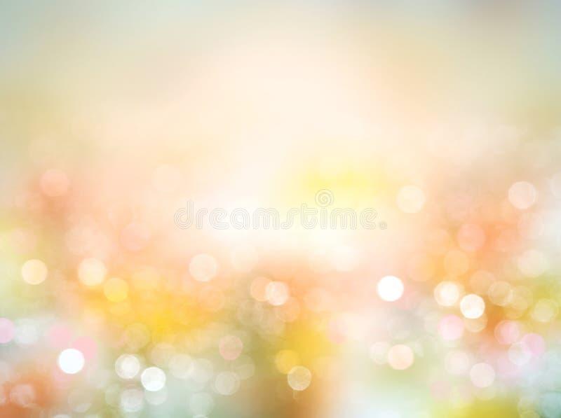 Van de de lentezomer natuurlijke vage illustratie als achtergrond stock illustratie