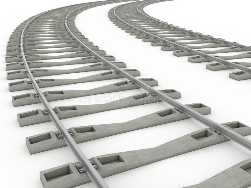 Van de de lijnenrooster van het spoorwegspoor Spoor 8 vector illustratie