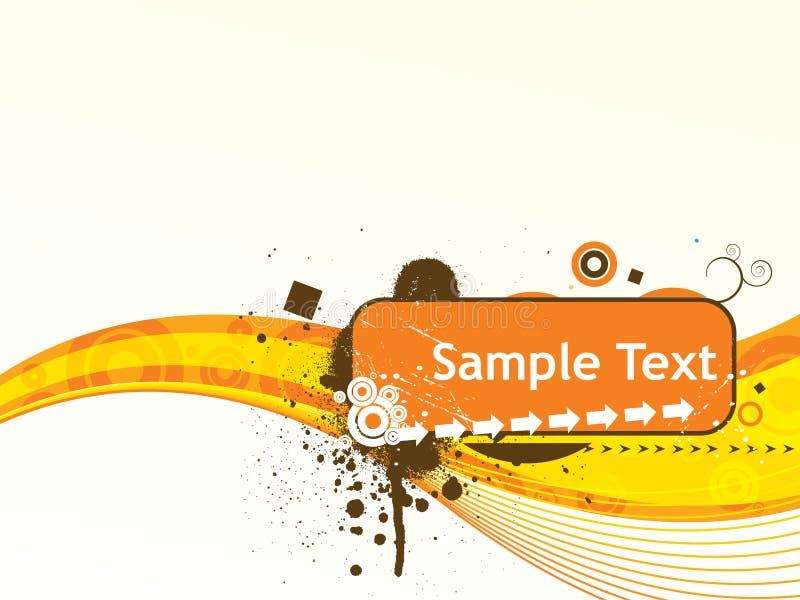 Van de de lijnensteekproef van de golf de tekst vectorillustratie stock illustratie