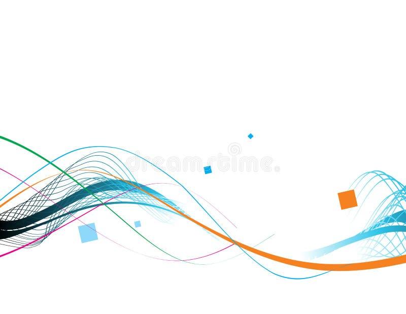 Van de de lijnensteekproef van de golf de tekst vectorillustratie vector illustratie