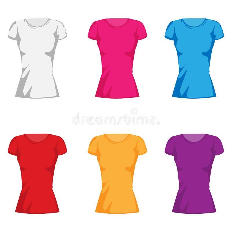 Van de de maniert-shirt van vrouwen de inzamelingsreeks vector illustratie
