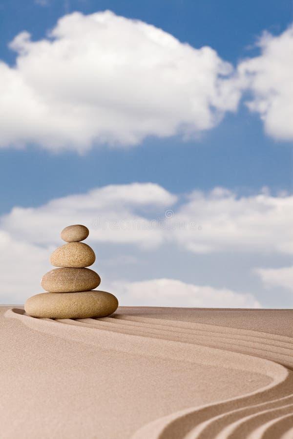 Van de de meditatietuin van Zen de spiritualiteitzuiverheid stock afbeelding