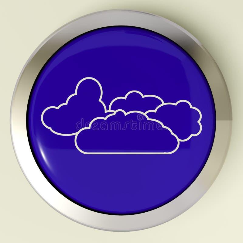 Van de de Middelenregen van de wolkenknoop het Regenachtige Weer vector illustratie