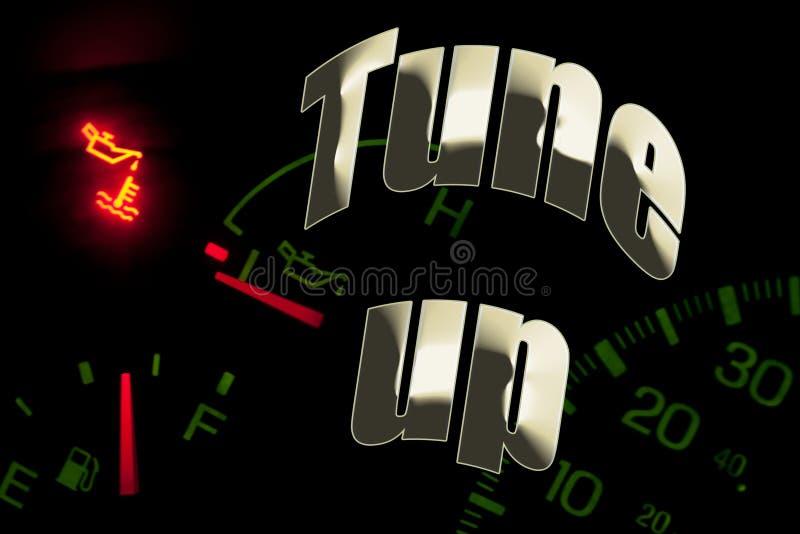 Van de de oliedienst van de verandering het de motorlicht stemt omhoog stock foto