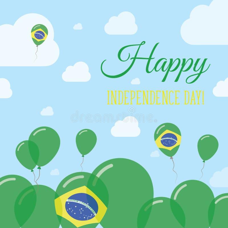 Van de de Onafhankelijkheidsdag van Brazilië het Vlakke Patriottische Ontwerp royalty-vrije illustratie