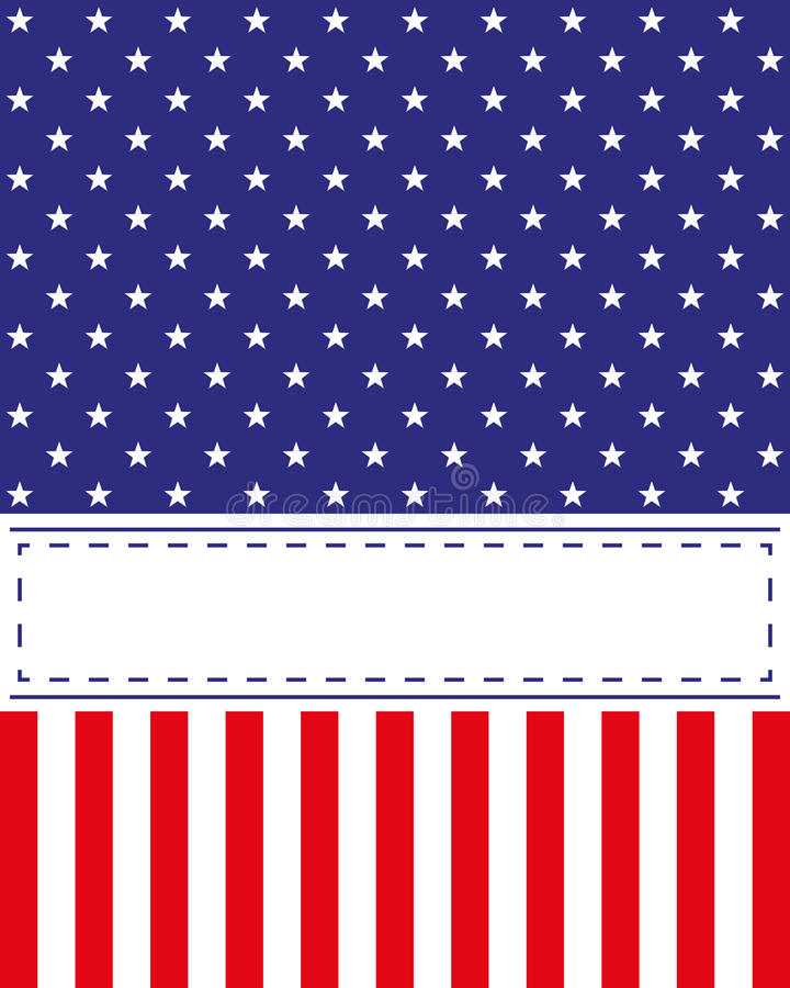 Van de de Onafhankelijkheidsdag van de V.S. de kaartvector royalty-vrije illustratie